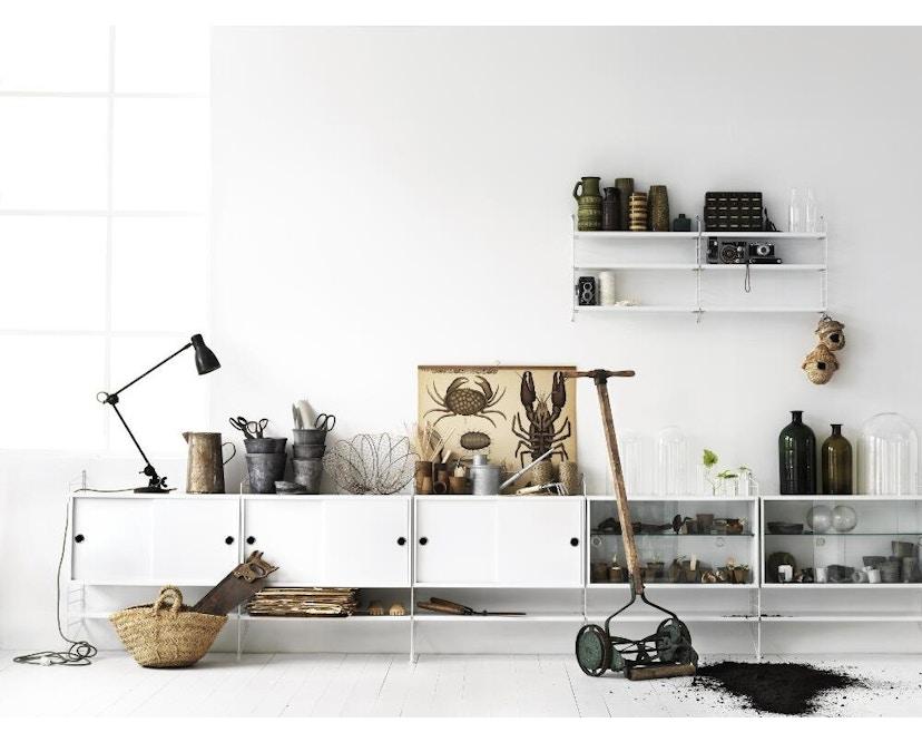 String - Armoire avec vitrine - blanc - 1