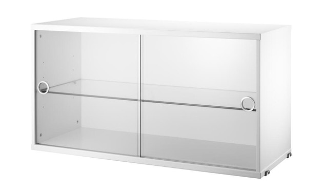 String - Armoire avec vitrine - blanc - 0