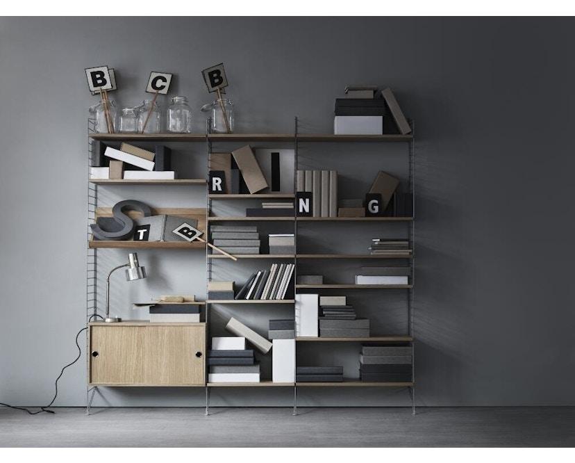 String - Tijdschriftenbak hout - 78 x 30 cm - Notenhout - 2