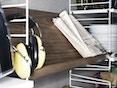 String - Tijdschriftenbak hout - 78 x 30 cm - Notenhout - 3