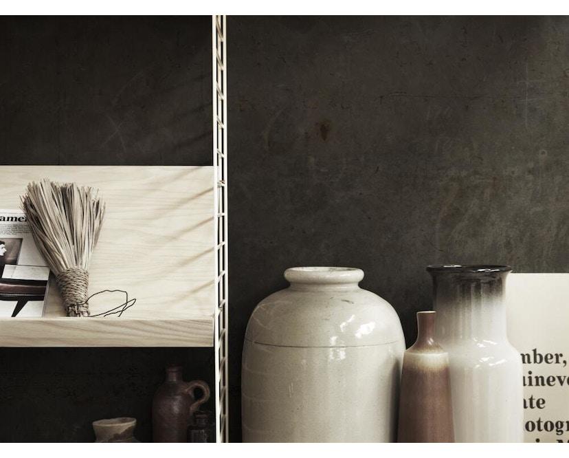 String - Zeitschriftenablage Holz - weiß - 58 x 30 cm - 2