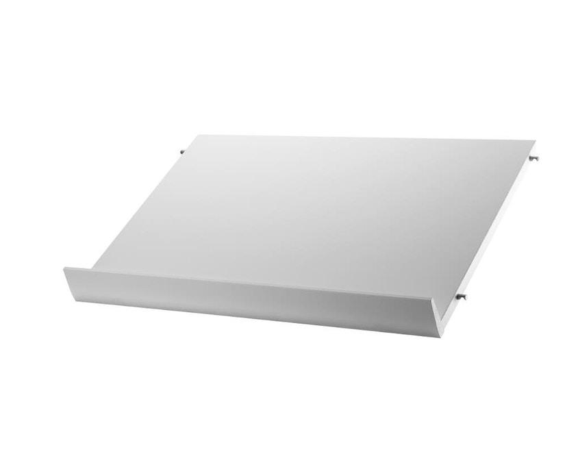 String - Zeitschriftenablage Holz - weiß - 58 x 30 cm - 0
