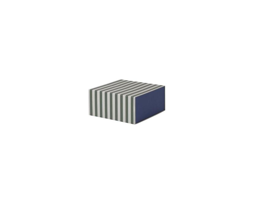 ferm LIVING - Gestreifte Box - carré - vert/blanc - 2