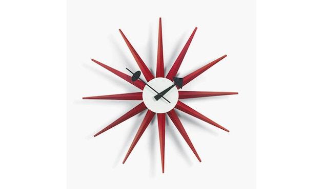 Vitra - Sunburst Clock - rot - 1