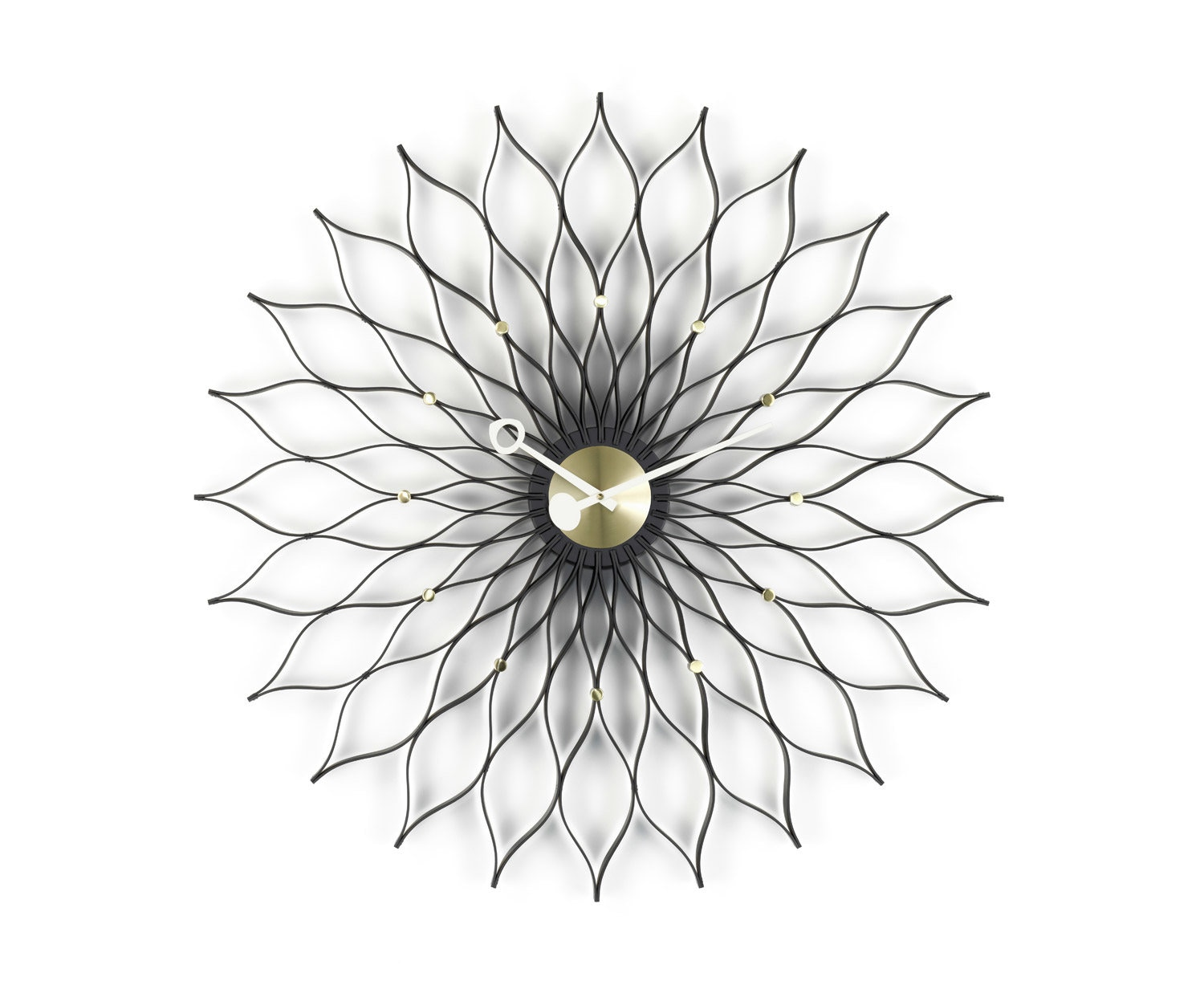 Vitra - Sunflower Clock - frêne noir - 2