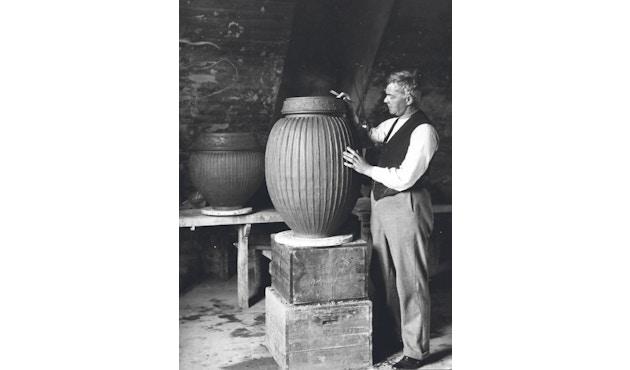 Kähler Design -  Hammershøi Vase - Höhe 10 cm - Anthracite - 15