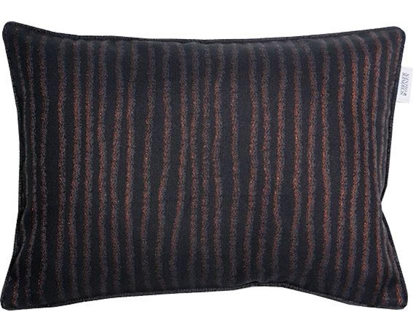 SCHÖNER WOHNEN-Kollektion - Aurelie Zierkissenhülle ohne Füllung 38x58cm - schwarz - 1