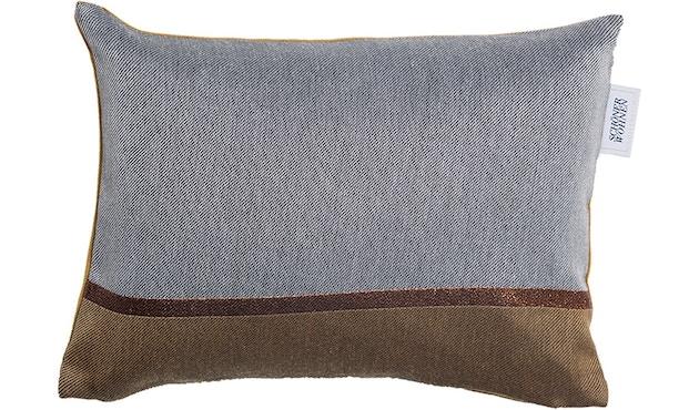 SCHÖNER WOHNEN-Kollektion - Chloe Zierkissenhülle mit Vliesfüllung 28x38cm - grau-caramel - 1