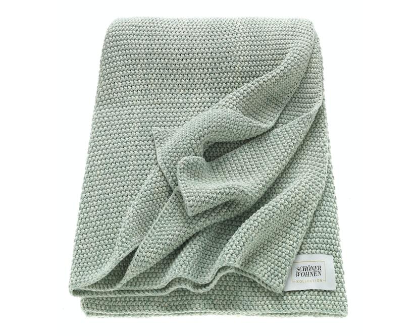 SCHÖNER WOHNEN-Kollektion - Melange Plaid Decke - mint - 1
