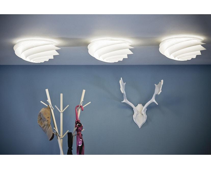 Le Klint - Swirl Decken-/Wandleuchte - weiß - S - 6