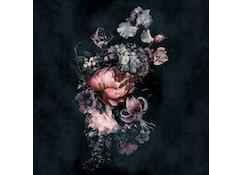 Tapete Fleurs XL - schwarz, rosa