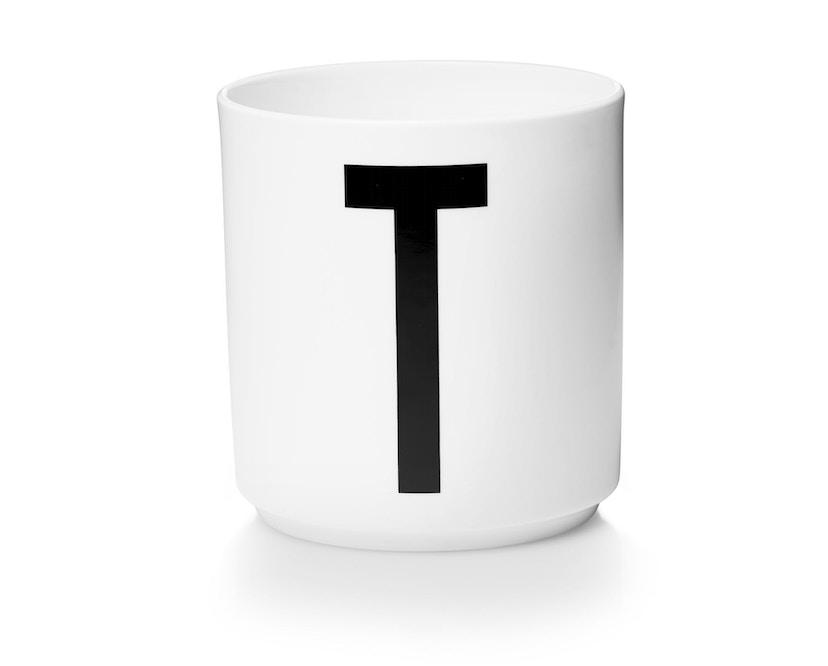 DESIGN LETTERS - Personal Porzellanbecher - weiß - T - 1