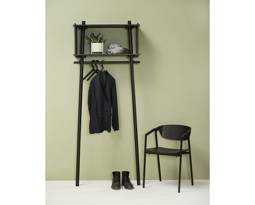 Woud - Töjbox Garderobe - Black painted oak - groß - 6