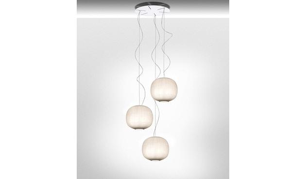 Foscarini - Tartan Hängeleuchte LED - bianco - 2