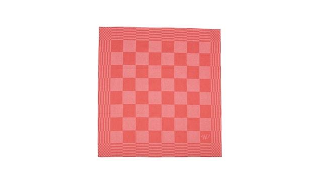 Weltevree - Geschirrhandtuch - orangerot - mit Spielbrettmustern - 5
