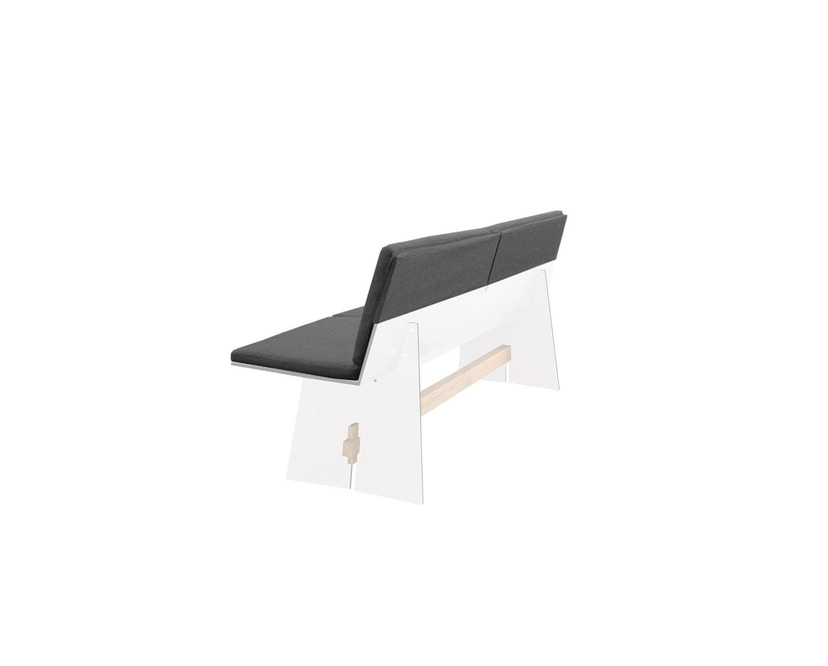 Conmoto - Sitzkissenset für Tension Bank mit Rückenlehne - anthrazit - 1