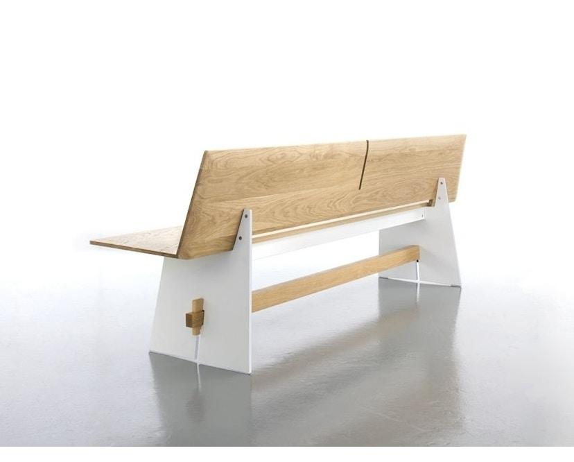 Conmoto - Tension Wood Bank mit Rückenlehne- wit/schwarze Kante - Eichenholz - 5