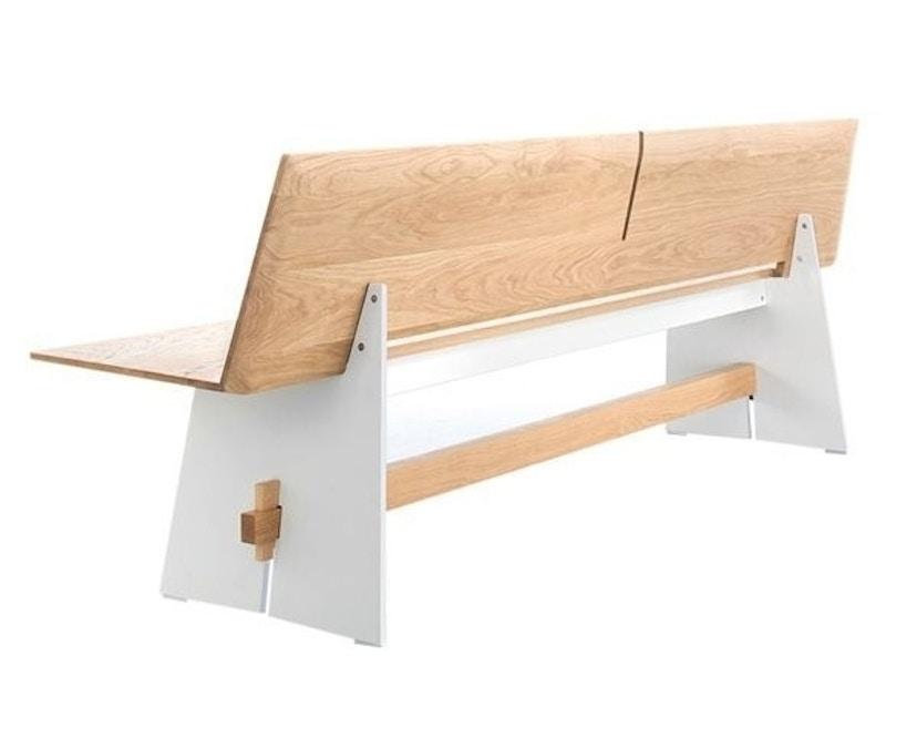Conmoto - Tension Wood Bank mit Rückenlehne- wit/schwarze Kante - Eichenholz - 1