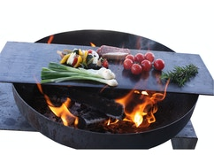 Teppanyaki-blad voor de vuurschaal