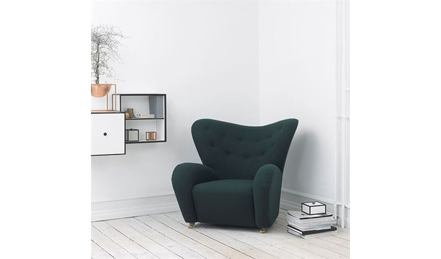 by Lassen - The Tired Man fauteuil - Hallingdal 130 - grijs gevlekt - 2