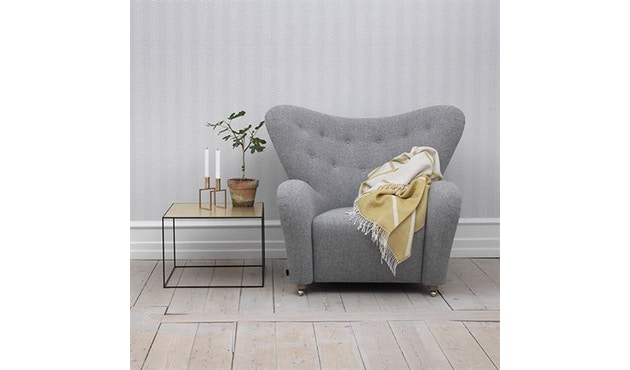 by Lassen - The Tired Man fauteuil - Hallingdal 130 - grijs gevlekt - 4