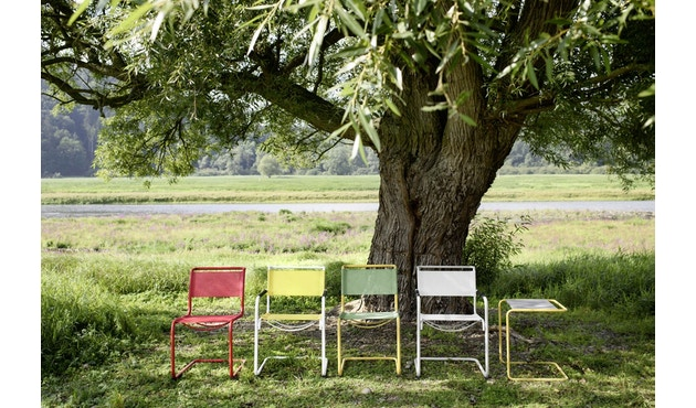 Thonet - S 33 N All Seasons - weiß - Netzgewebe anthrazit - 6