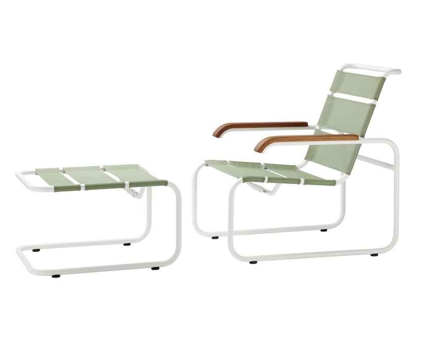 Thonet - S 35 NH All Seasons kruk - zuiverwit - antraciet - 2