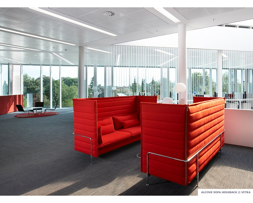 Vitra - Canapé 3 places Alcove Highback - 5