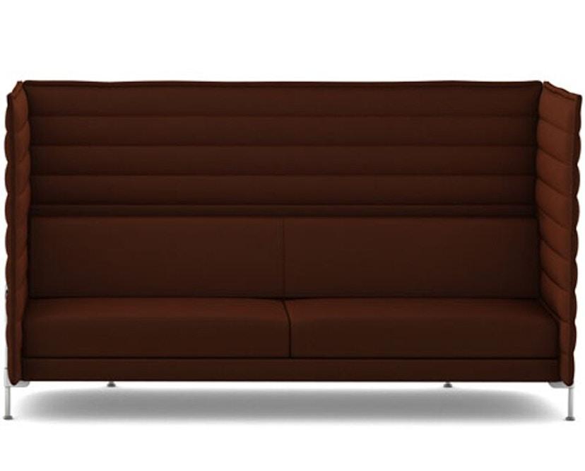 Vitra - Alcove Highback 3-Sitzer Sofa - Laser dunkelbraun - 1
