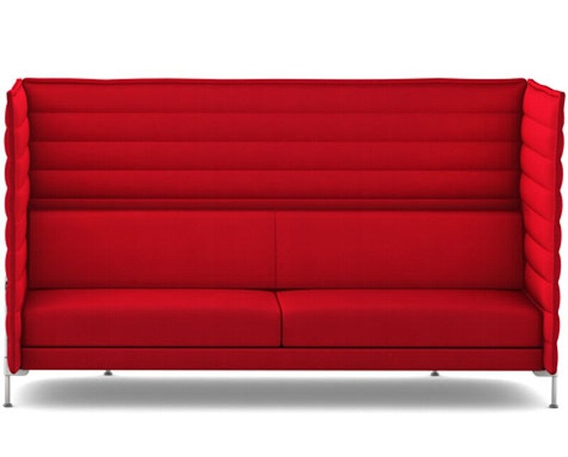 Vitra - Canapé 3 places Alcove Highback - Laser rouge - 1