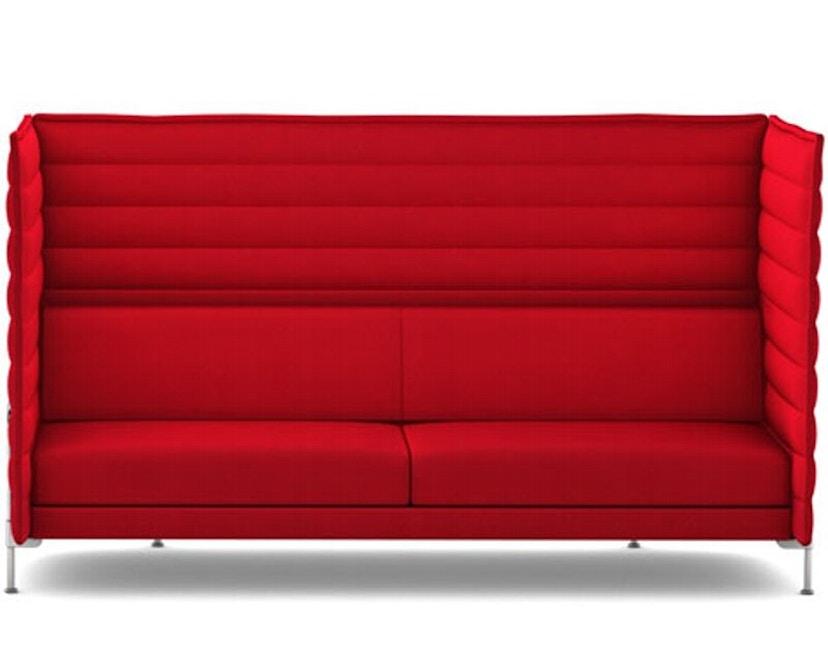Vitra - Alcove Highback 3-Sitzer Sofa - Laser rot - 1