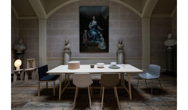 HAY - Neu Chair 10   - gepolstert - Gestell bordeaux - Sitzfläche Remix 543 - 3