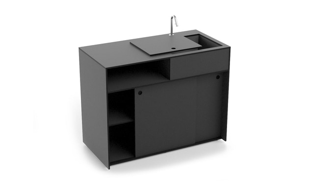 Conmoto - TICINO Kitchen Water  - HPL - anthrazit - 1