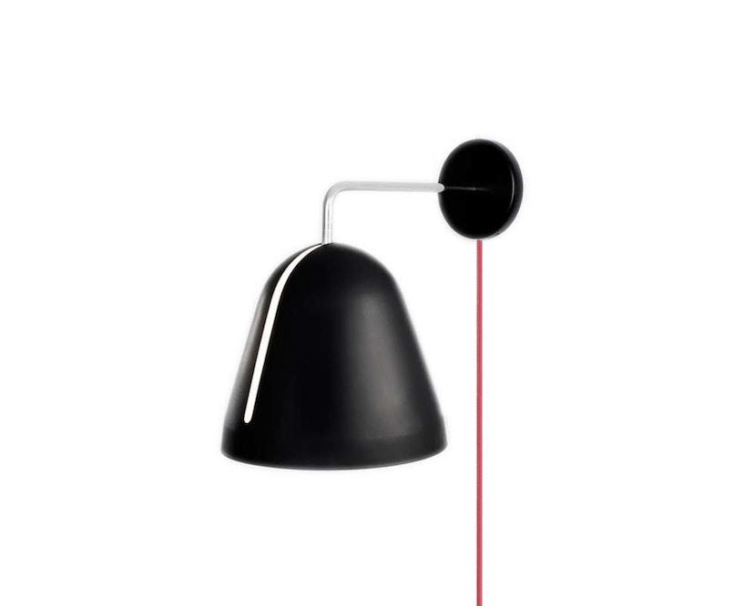 Nyta - Tilt Wandleuchte mit Steckerzuleitung - schwarz - Kabel altrosa - 5