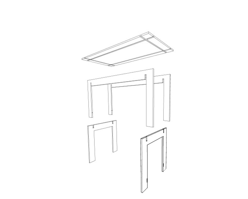 Tojo - Tisch - 150 x 75 x 75 cm - 12