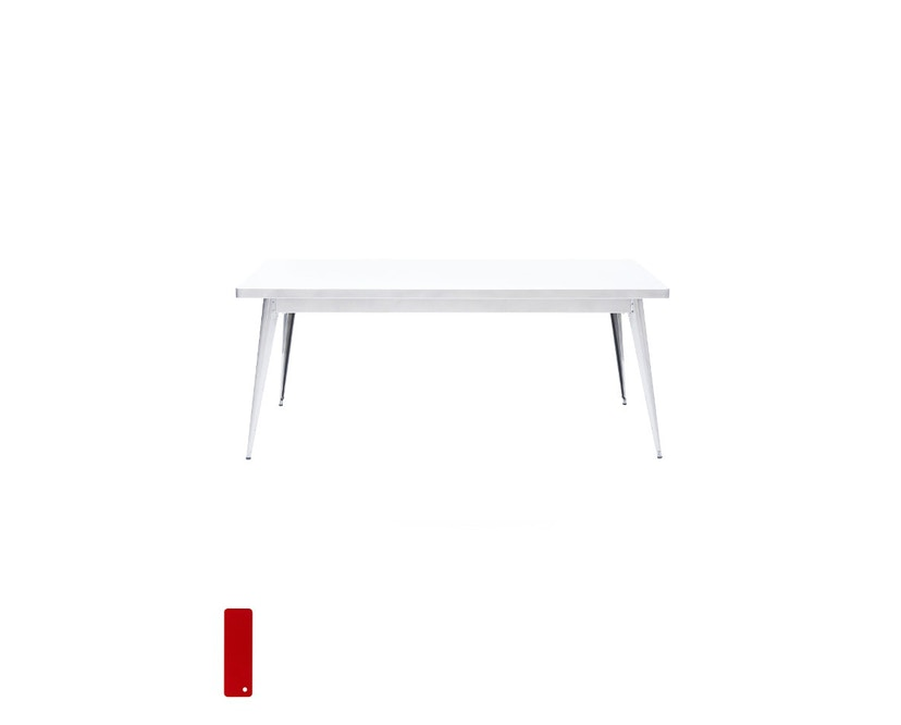Tolix - 55 Tisch - groß - indoor - kaminrot - 1