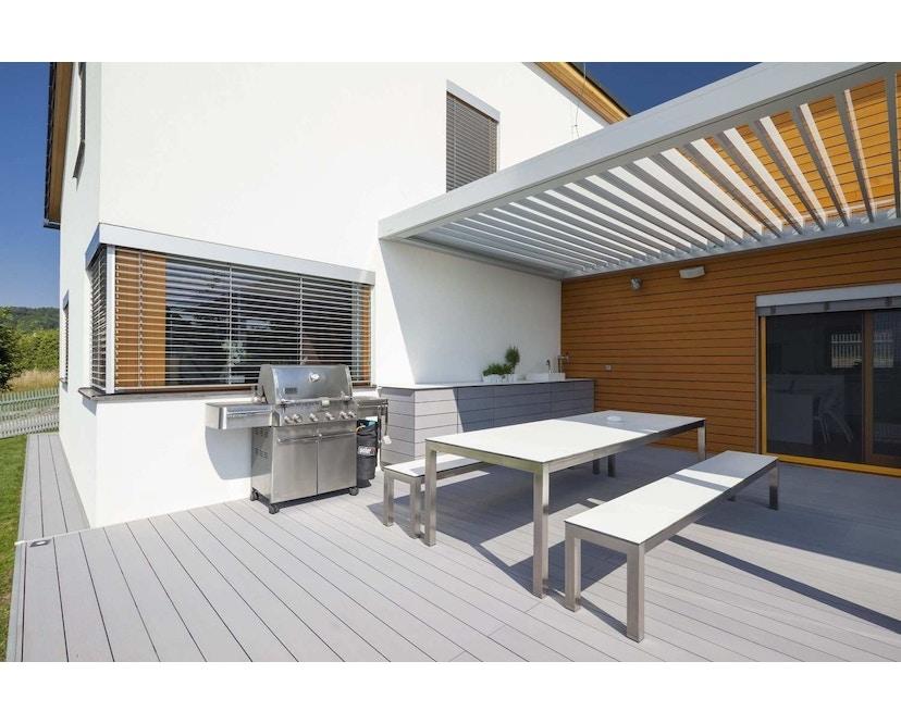 Todus - Leuven Bank - White 310 - Grey 105 - 40 x 205 cm - 2