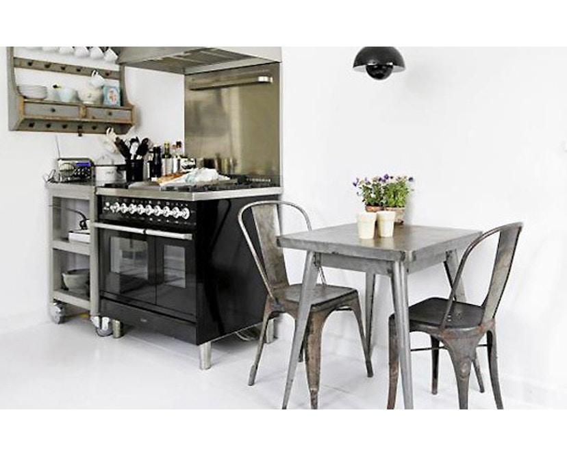Tolix - 55 Tisch - quadratisch- klein - indoor - kaminrot - 3