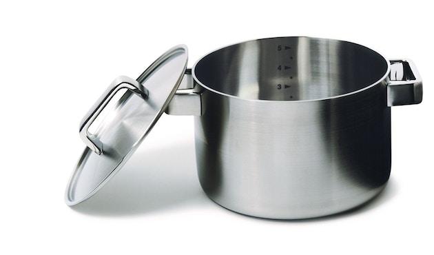 Iittala - Tools Kochtopf mit Deckel, 5l- silber - 2