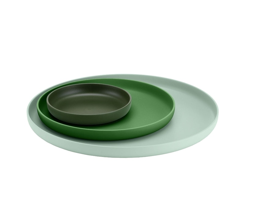 Vitra - Trays 3er Set - grün - 4