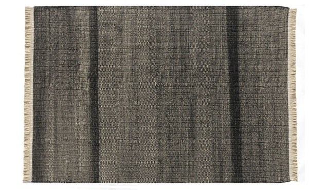 Nanimarquina - Tres outdoor - Textur schwarz - 170 x 240 cm - 1