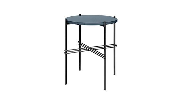 Gubi - TS Couchtisch - Glas Blue grey - Gestell schwarz - Ø 40 cm - 1
