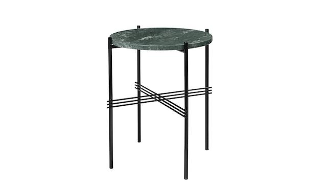 Gubi - TS Couchtisch - Marmor Verde Guatemala - Gestell schwarz - Ø 40 cm - 0