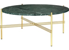 Gubi - Table basse TS - Marbre - Verde Guatemala - 80 cm - laiton - 4