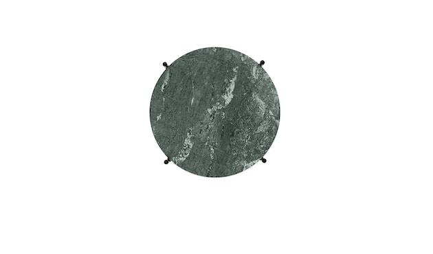 Gubi - TS Couchtisch - Marmor Verde Guatemala - Gestell schwarz - Ø 40 cm - 5