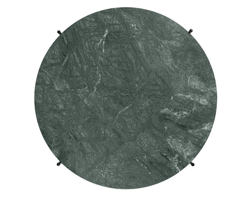 Gubi - TS Couchtisch - Marmor Verde Guatemala - Gestell messing - Ø 80 cm - 1