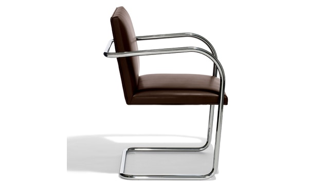 Knoll International - Chaise avec accoudoirs Brno - Tube rond - 5