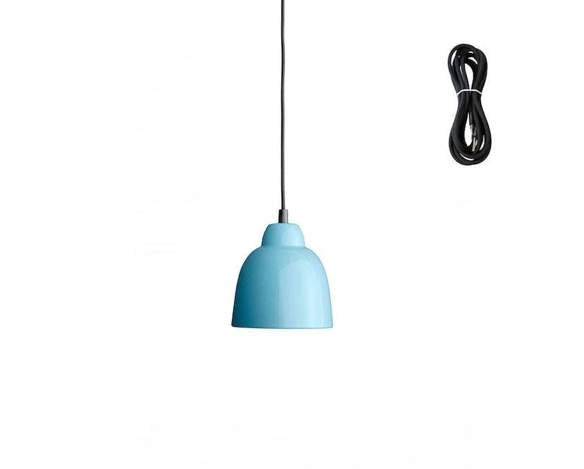 Made By Hand - Tulip Hängeleuchte - petroleum blue - Kabelfarbe black - Baldachin schwarz - 1