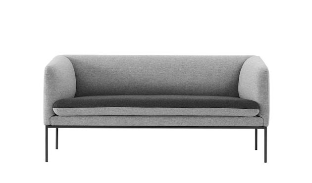 ferm LIVING - Turn 2-Sitzer Sofa - Baumwolle - hellgrau/dunkelgrau - 3