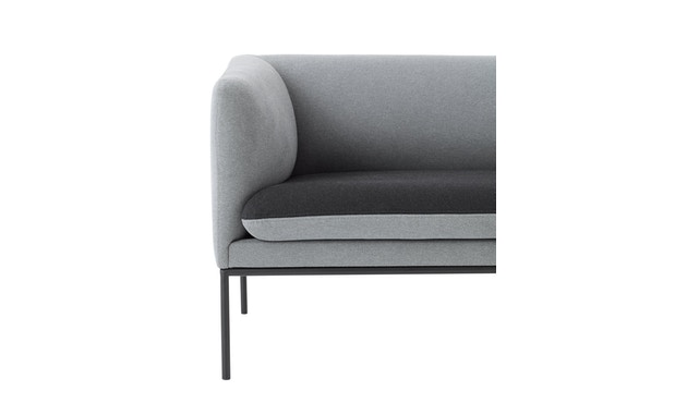 ferm LIVING - Turn 2-Sitzer Sofa - Baumwolle - hellgrau/dunkelgrau - 4